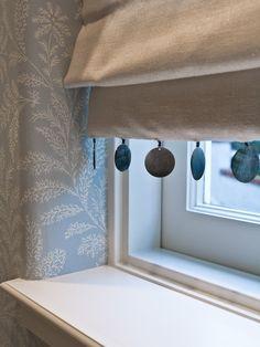 ❤︎ shell trim soft roman blind - charmean neithart interiors