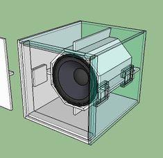 Desain Box sub bass rcf Best Subwoofer, Subwoofer Box Design, Speaker Box Design, Wood Phone Stand, Speaker Plans, Sub Box, Audio Design, Diy Speakers, Electrical Wiring