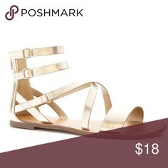 NWT Gold Forever 21 Sandals Never worn. Tags. Back zip. Size 5.5 Forever 21 Shoes Sandals