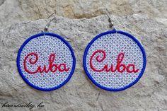 Csipke hímzett fülbevaló, Cuba felirattal Crochet Earrings, Jewelry, Jewellery Making, Jewerly, Jewelery, Jewels, Jewlery, Fine Jewelry, Accessories