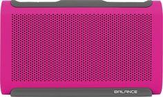 Braven - Balance Portable Bluetooth Speaker - Raspberry Red/Gray