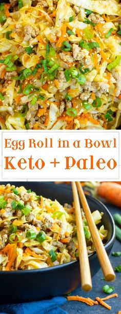 Easy Keto Recipes For Breakfast Lunch And Dinner Egg Roll Recipes, Slaw Recipes, Vegetarian Recipes, Chicken Recipes, Cheese Recipes, Vegetarian Bowl, Hcg Recipes, Paleo Food, Healthy Chicken