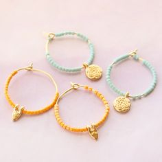 Beach Jewelry, Diy Jewelry, Handmade Jewelry, Seed Bead Bracelets, Seed Beads, Diy Earrings, Hoop Earrings, Diy Schmuck, Jewerly