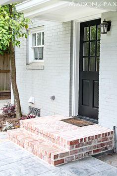 Brick porch and white door | maisondepax.com