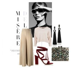 """Spring Look"" by catmarguerite on Polyvore featuring Givenchy, Gianvito Rossi, Oscar de la Renta, women's clothing, women's fashion, women, female, woman, misses and juniors"