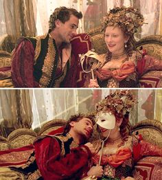 Elizabeth (1998) Starring: Joseph Fiennes as Robert Dudley, 1st Earl of Leicester and Cate Blanchett as Elizabeth I of England.