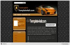 Blogger Themes - Lamborghini Blogger Template #blogger #lamborghini #bloggerthemes