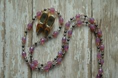 Queen Crown Jewels Renaissance Gypsy Chain Necklaces in Pinks by AmbientAtelier