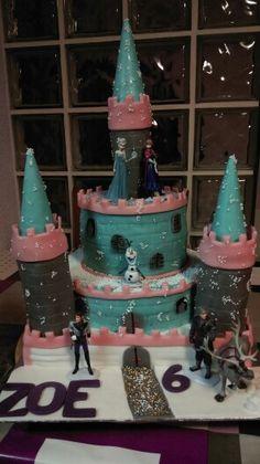 Pastel castillo frozen