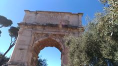 The Arch of Constantine is not the only centuries-old triumphal arch in Rome. Here's another one. What is it called and where exactly in Rome can you find it?