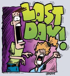 last day of school cartoons | Cartoon: LAST DAY OF SCHOOL!! (medium) by GBowen tagged dad,daughter ...