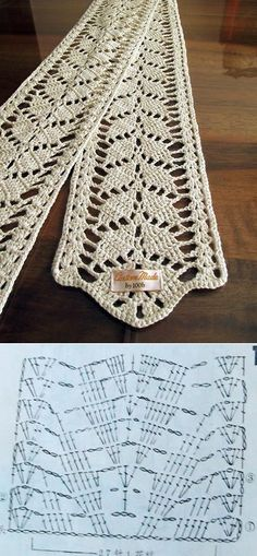 Crochet shawl pattern chart knitting Ideas for 2019 Crochet Lace Scarf, Crochet Purses, Thread Crochet, Crochet Granny, Crochet Scarves, Knit Crochet, Crochet Edging Patterns, Crochet Chart, Crochet Motif