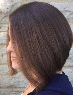 angled brunette lob