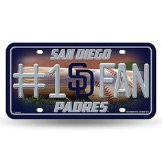 San Diego Padres #1 Fan License Plate