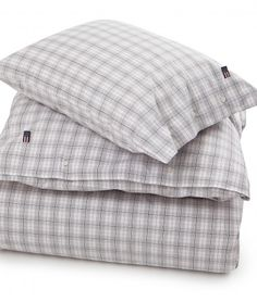 White Poplin Check Duvet