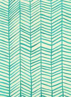 Mint Herringbone Art Print