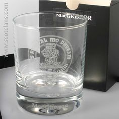 MacGregor Clan Crest Whisky Glass. Free worldwide shipping available