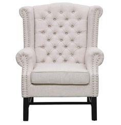 Fairfield Elegant Beige Grey Mixed Linen Wood Living Room Set