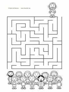 3 Bible story mazes.Jesus and the 12 disciplesMoses and the 10 commandmentsPsalm 23 Information Age, 10 Commandments, Bible Activities, Free Bible, Bible Stories, Maze, Psalms, Coloring Pages, Psalm 23