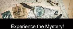 The Mystery Experiences Company Each month, you will receive a mysterious black package in the mail.  Inside the package will be items you will use to solve a new mystery.