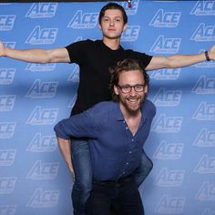 Tom Hiddleston and Tom Holland ACE Comic Con June 2018