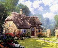 Cottage in the forest, by Thomas Kinkade.... by Jasna Sis