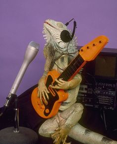 the lizards who can play the guitar