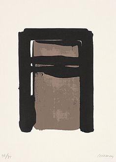 """Pierre Soulages (Born 1919 Rodez) """"Sérigraphie No. 10"""" Color silkscreen 1979 52 x 37.5 cm Fig. 33.5 x 24 cm"""