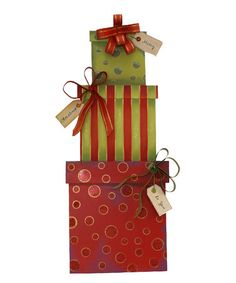Look at this #zulilyfind! Gift Box Stake #zulilyfinds