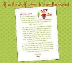 Elf On The Shelf Letter to Start the Season Off