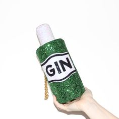 Glitter Gin Bottle Clutch Handbag