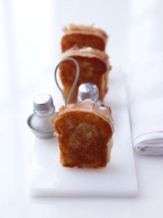 Mini Croque Monsieurs by Peter Callahan Mini Grilled Cheeses, Barbie Food, Food Photography Tips, Tiny Food, Food Stations, Miniature Food, Recipe Of The Day, Creative Food, Food Design