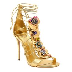 Casadei by Ilenia Corti metal plaque leather sandals, £1,800