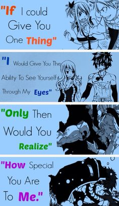How special you are to me. OMG I LOVE THIS!!! ||Fairy Tail couples|| #Fairy Tail
