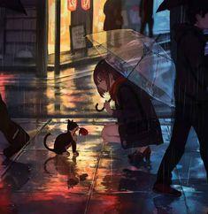 rain anime wallpaper phone - Google Tìm kiếm Fan Art Anime, Anime Art Girl, Anime Girls, Anime Triste, Culture Pop, Anime Scenery, Anime Style, Cute Art, Concept Art