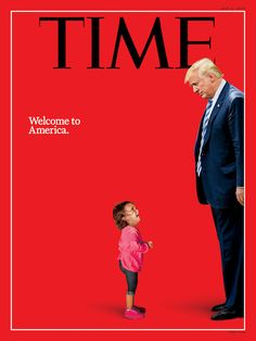 "by Rev. Austin Miles  An outraged world is fuming over the new Time magazine cover photo showing President Donald Trump standing tall, looking superior over a tiny ""refugee"" girl at his feet, her head down and sobbing, who (the photo implies) had been torn away from her parents during Trump's hand"