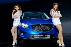 Beautiful, sexy presenters for Mazda at the 30th Thailand International Motor Expo 2013