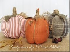 easy no sew shirt pumpkins, crafts, repurposing upcycling, seasonal holiday d cor, Super easy fun and inexpensive pumpkins made from shirts and they are no sew from Confessions of a Plate Addict Pumpkin Planter, Diy Pumpkin, Pumpkin Crafts, Fall Crafts, Holiday Crafts, Diy Crafts, Holiday Decor, Pumpkin Ideas, Pumpkin Pillows