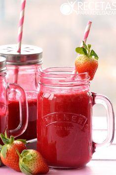 Ingredientes: – 1 remolacha – 4 fresas – El jugo de dos naranjas – Una cucharada de miel