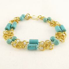 Chainmaille Howlite Bracelet £22.00
