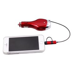 Quick Charge Cigarette Lighter Socket Retractable Car