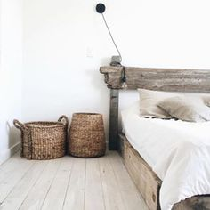 #repost of @wearecaribou's amazing bedroom. I've been particularly spying white painted wood floors for a few years now. Spied some at my friend's house a few weeks ago and I'm so close to busting out my brushes. #aminuts #ofcourseimnuts