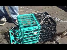 Two milk crates and a little work. Saltwater Fishing, Kayak Fishing, Fishing Tips, Lobster Trap, Crab And Lobster, Blue Crab Trap, Survival In The Woods, Crawfish Traps, Homemade Chips