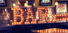 Vintage Marquee Lighted Signs are a great way to decorate your next event.