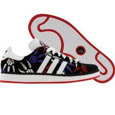 Adidas Campus II - Toronto Raptors (black1 / runwhite / redsld) 044341 - $64.99 Toronto Raptors, Adidas Campus, Basketball Shoes, Trainers, Running Shoes, Kicks, Canada, Wedding Ideas, Fresh