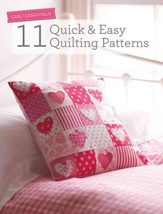 A collection of quick and easy quilting projects including designs by authors such as Lin Clemens (The Quilter's Bible), Marion Elliot and Tacha Bruecher from Fat Quarterly. The projects include home decoration notions such as hanging hearts, quil...