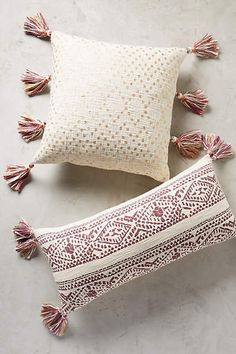 Anthropologie Tasseled Pointilliste Pillow  http://api.shopstyle.com/action/apiVisitRetailer?id=503994468&pid=uid84-31725922-10