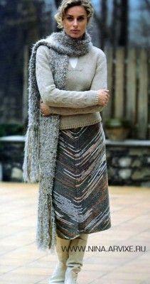 Вязание спицами юбки на осень