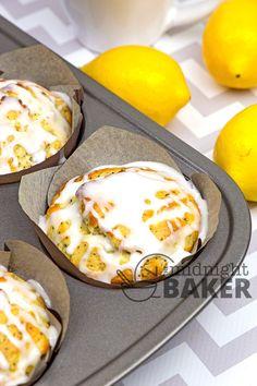 Sour Cream Lemon Poppy Muffins