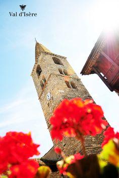 Le magnifique clocher...Val d'Isère, France